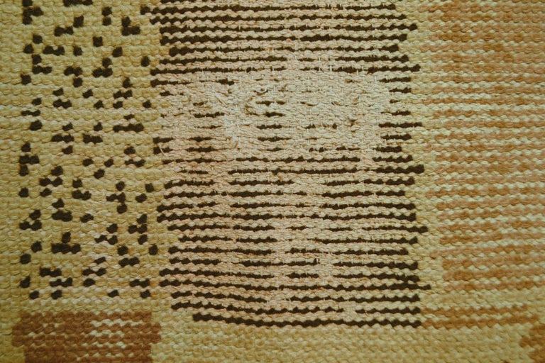 Hand-Knotted Handmade Antique French Art Deco Rug, 1930s, 1P02 For Sale