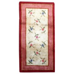 Handmade Antique French Savonnerie Rug, 1930s, 1P61