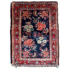 Handmade Antique Hamadan Style Rug, 1920s, 1B818