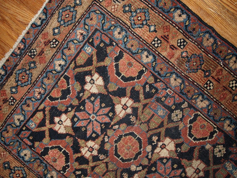 Asian Handmade Antique Hamadan Style Runner, 1900s, 1B438 For Sale