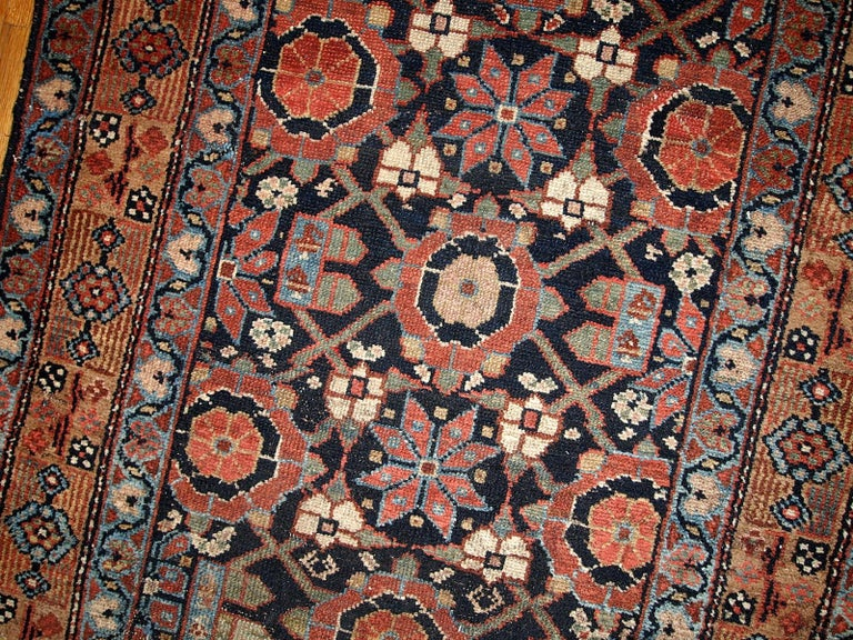 Handmade Antique Hamadan Style Runner, 1900s, 1B438 In Good Condition For Sale In Bordeaux, FR