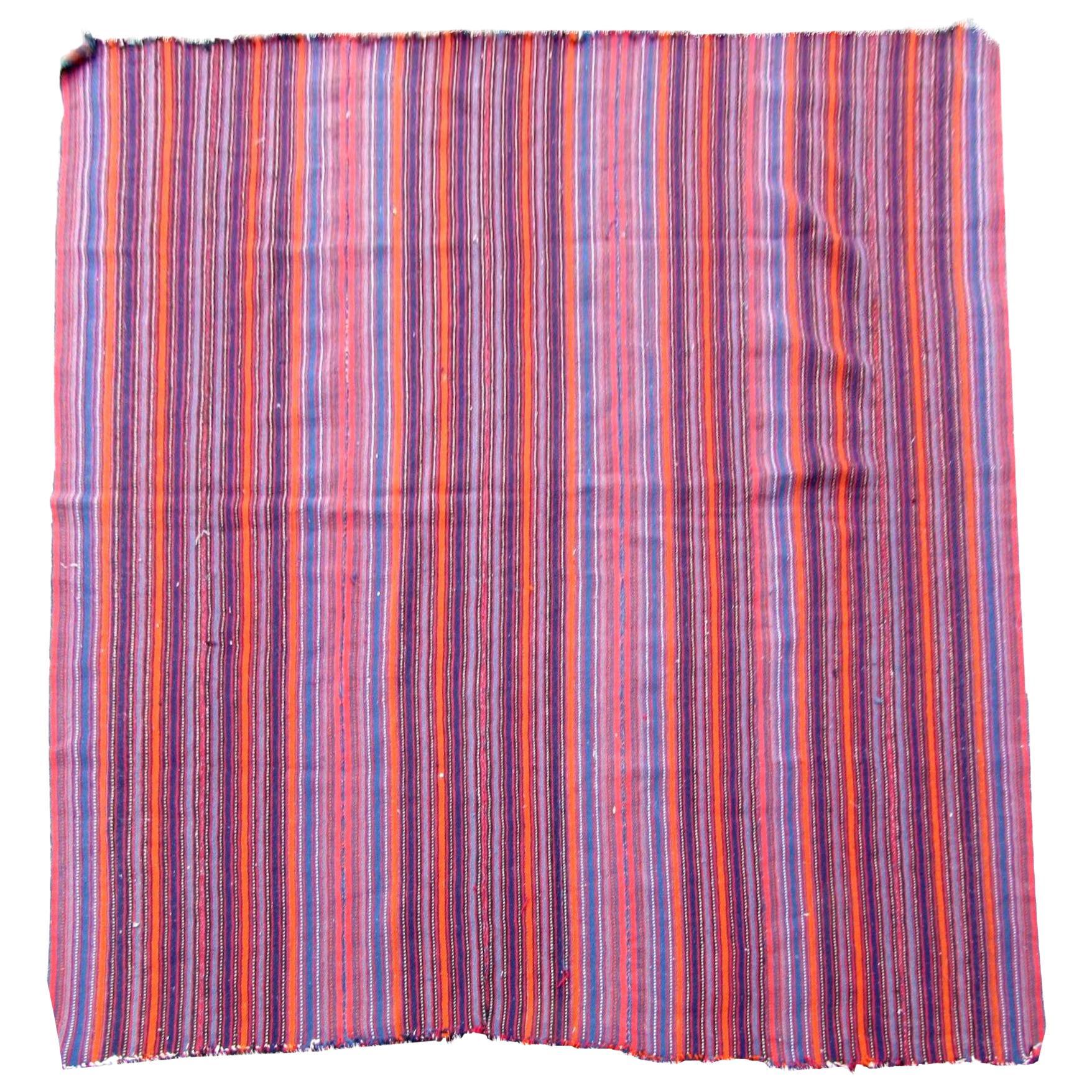 Handmade Antique Jajim Style Kilim, 1930s, 1Q0240