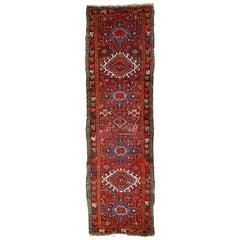 Handmade Antique Karajeh Style Rug, 1920s, 1C658