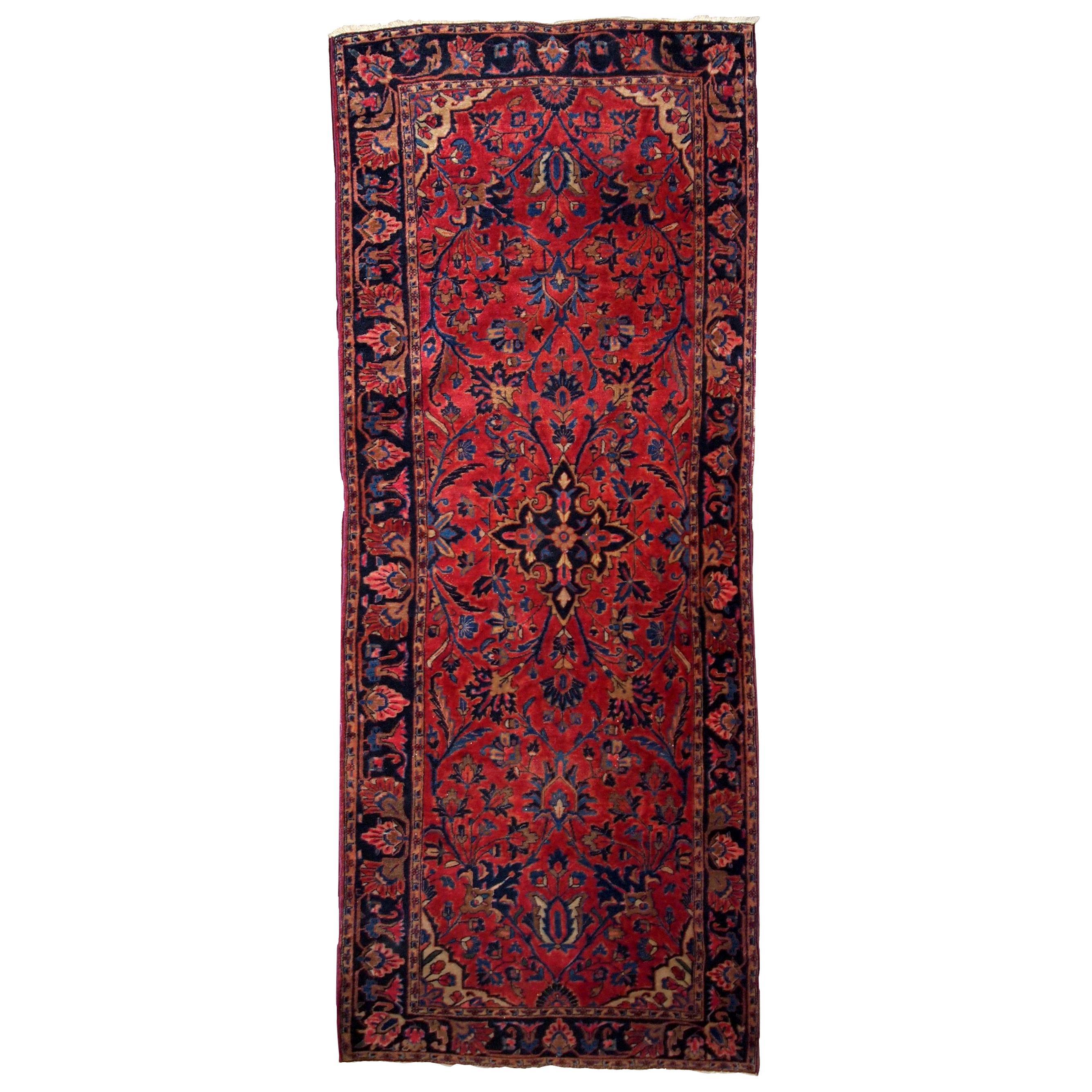 Handmade Antique Kashan Style Rug, 1900s, 1B803