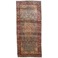 Handmade Antique Kerman Style Rug, 1920s, 1B791