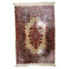 Handmade Antique Kerman Style Rug, 1930s, 1B806