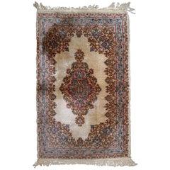 Handmade Antique Kerman Style Rug, 1930s, 1B808