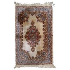 Handmade Antique Kerman Style Rug, 1930s, 1B809
