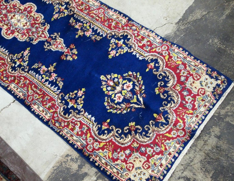 Handmade Antique Kerman Style Runner, 1930s, 1B710 In Good Condition For Sale In Bordeaux, FR