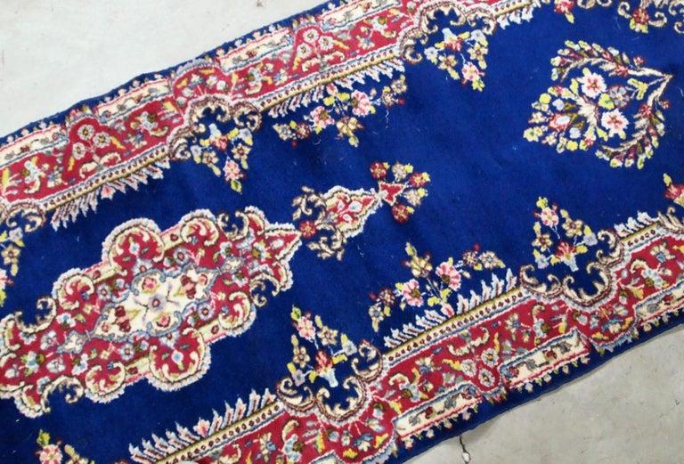 Mid-20th Century Handmade Antique Kerman Style Runner, 1930s, 1B710 For Sale