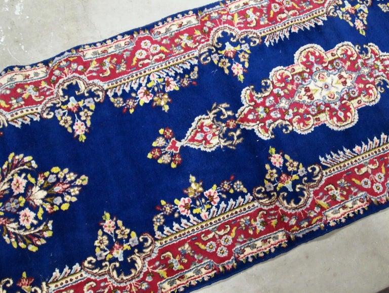 Wool Handmade Antique Kerman Style Runner, 1930s, 1B710 For Sale