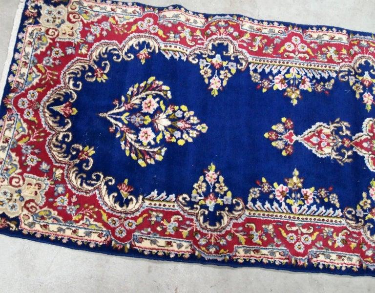 Handmade Antique Kerman Style Runner, 1930s, 1B710 For Sale 1