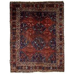 Handmade Antique Khamseh Style Rug, 1900s, 1C595