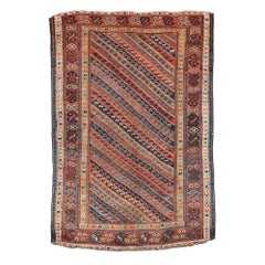 Handmade Antique Kurdish Style Rug, 1860s, 1B97