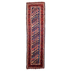 Handmade Antique Kurdish Style Runner, 1880s, 1P68