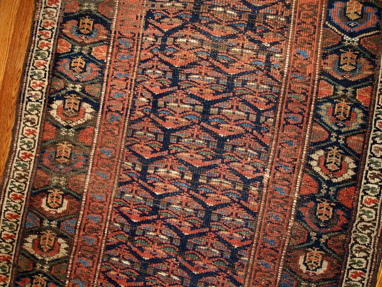 Handmade Antique Kurdish Style Runner, 1900s, 1B431 In Good Condition For Sale In Bordeaux, FR