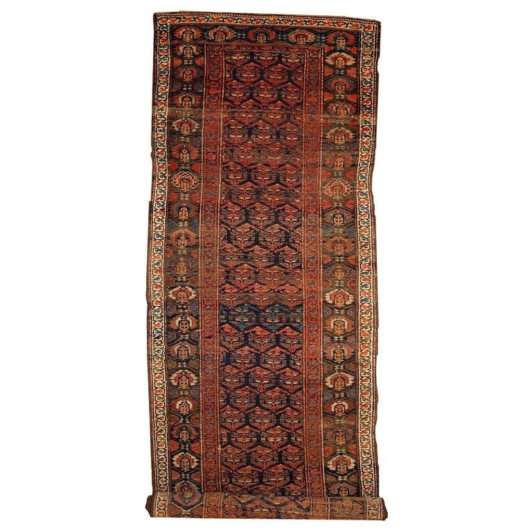 Handmade Antique Kurdish Style Runner, 1900s, 1B431 For Sale
