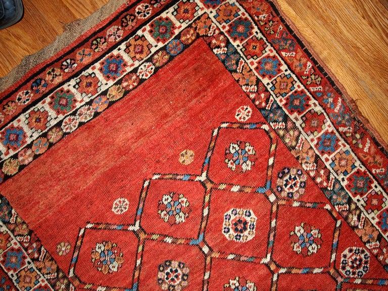 Wool Handmade Antique Kurdish Style Runner, 1900, 1B444 For Sale