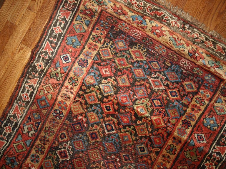 Handmade Antique Kurdish Style Runner, 1880s, 1B445 In Good Condition For Sale In Bordeaux, FR