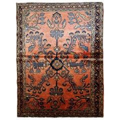 Handmade Antique Lilihan Style Rug, 1920s, 1B676