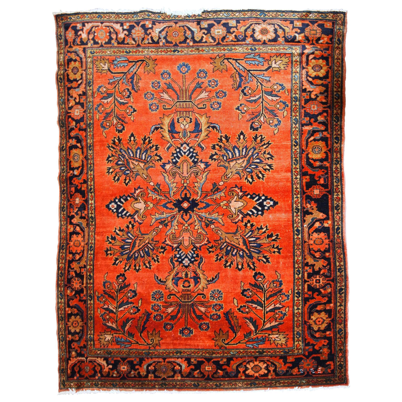 Handmade antique Lilihan Style Rug, 1920s, 1B777