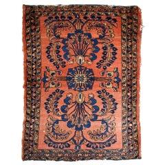 Handmade Antique Lilihan Style Rug, 1920s, 1B814