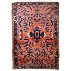 Handmade Antique Lilihan Style Rug, 1920s, 1B821