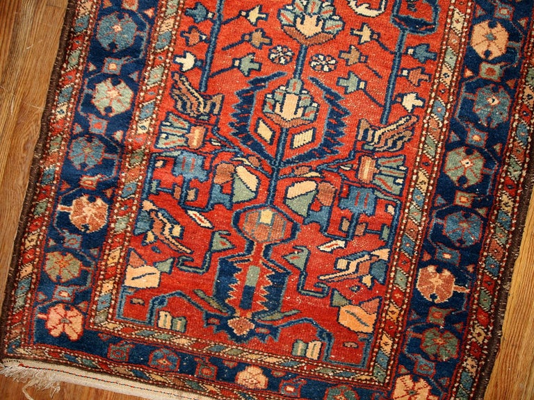 Hand-Knotted Handmade Antique Lilihan Style Runner, 1920s, 1B429 For Sale