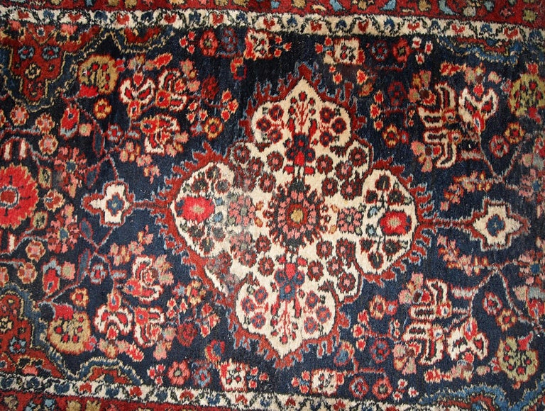 Early 20th Century Handmade Antique Malayer Style Runner, 1920s, 1C682 For Sale