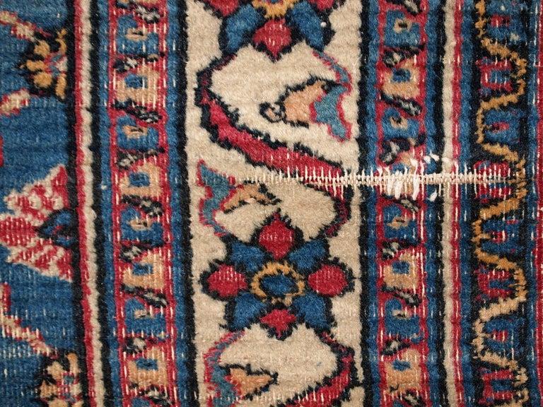 Handmade Antique Mashad Style Runner, 1900s, 1C587 For Sale 5