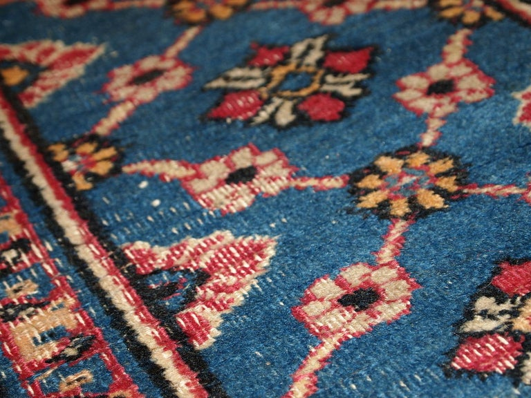 Asian Handmade Antique Mashad Style Runner, 1900s, 1C587 For Sale