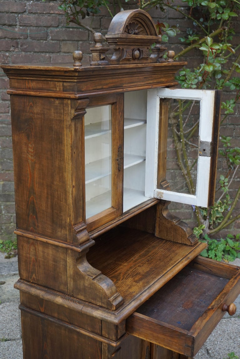 Handmade Antique Miniature Country House Sideboard / Kitchen Cabinet Late 1800s For Sale 3
