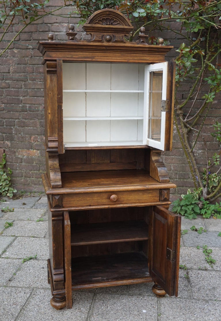 Handmade Antique Miniature Country House Sideboard / Kitchen Cabinet Late 1800s For Sale 5