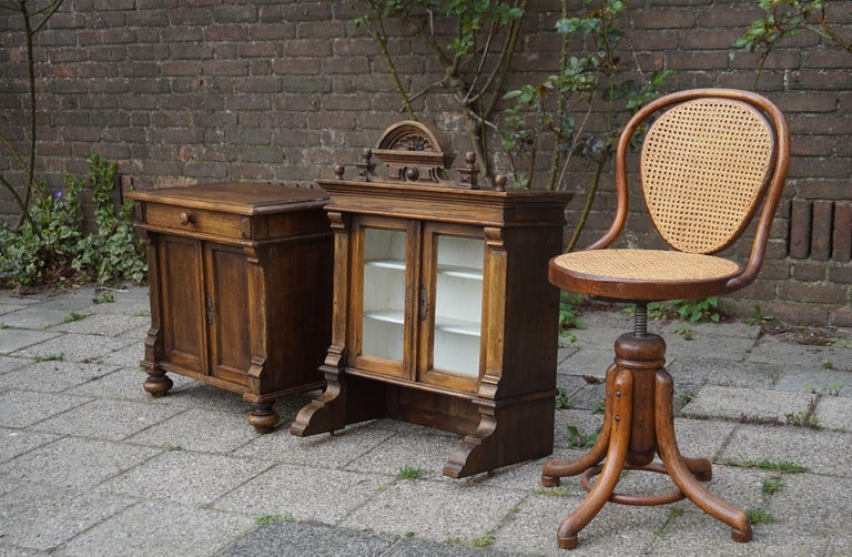 Handmade Antique Miniature Country House Sideboard / Kitchen Cabinet Late 1800s For Sale 7