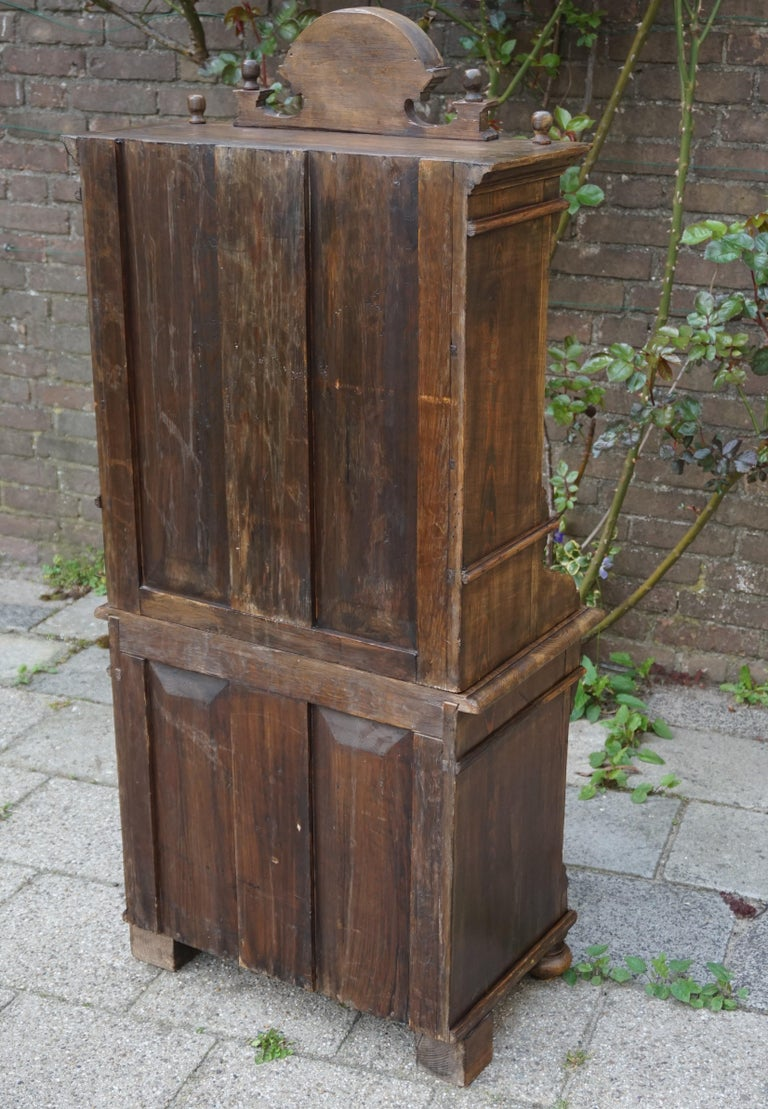 Handmade Antique Miniature Country House Sideboard / Kitchen Cabinet Late 1800s For Sale 9