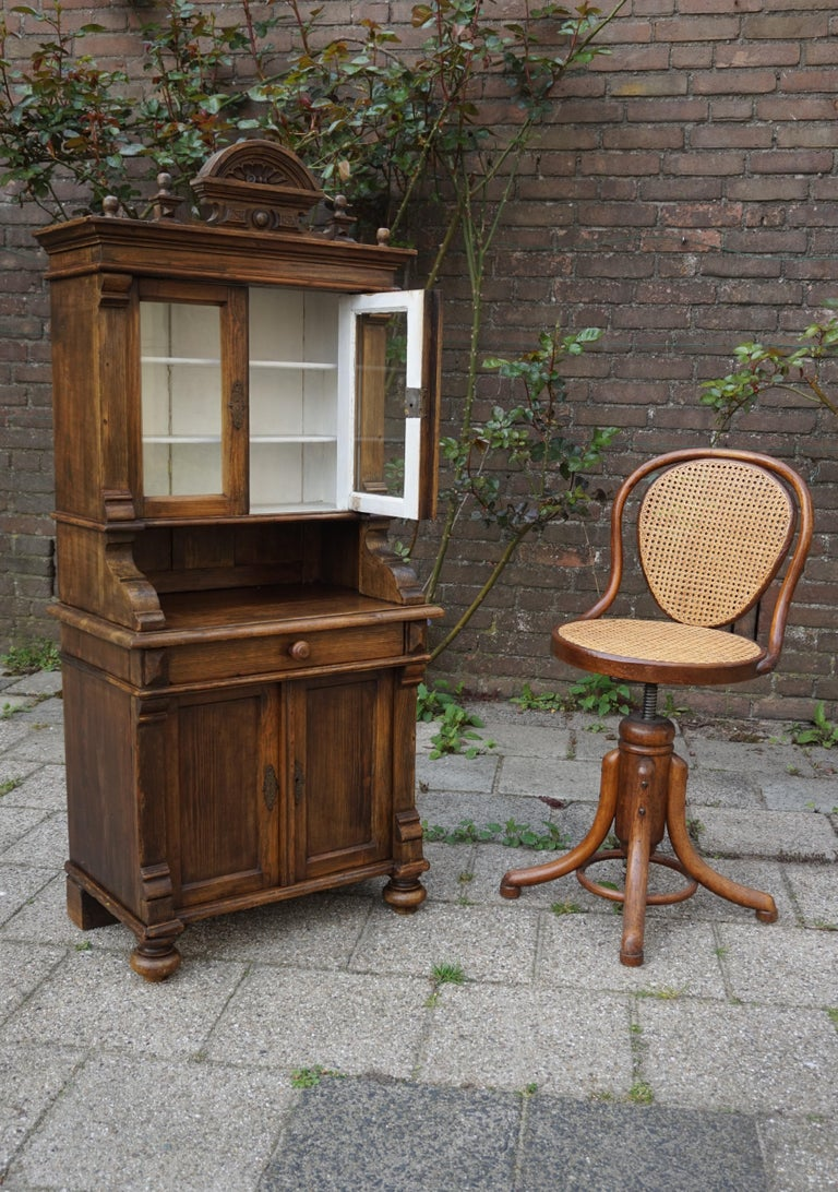 Handmade Antique Miniature Country House Sideboard / Kitchen Cabinet Late 1800s For Sale 10