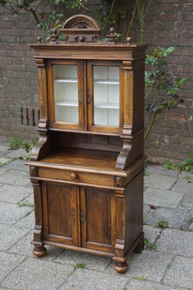Handmade Antique Miniature Country House Sideboard / Kitchen Cabinet Late 1800s For Sale 13