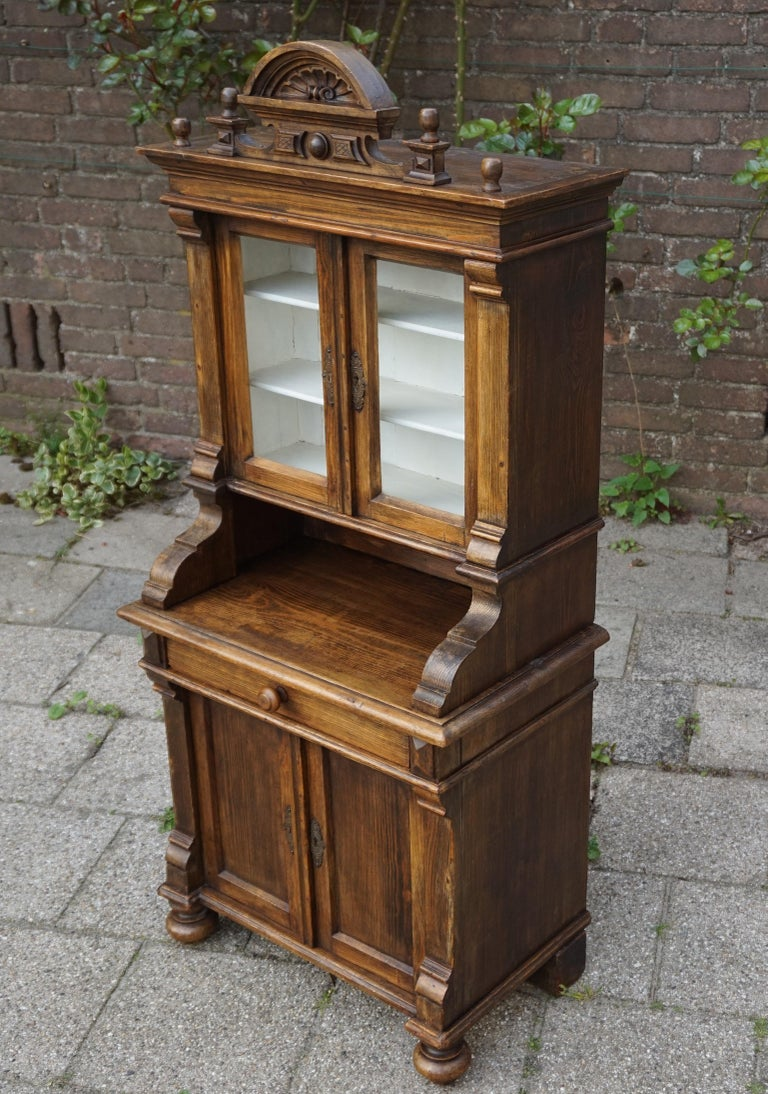 European Handmade Antique Miniature Country House Sideboard / Kitchen Cabinet Late 1800s For Sale