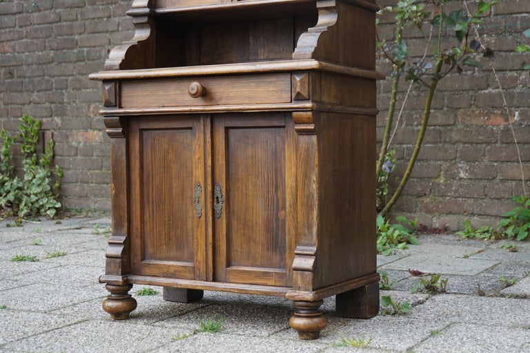 19th Century Handmade Antique Miniature Country House Sideboard / Kitchen Cabinet Late 1800s For Sale
