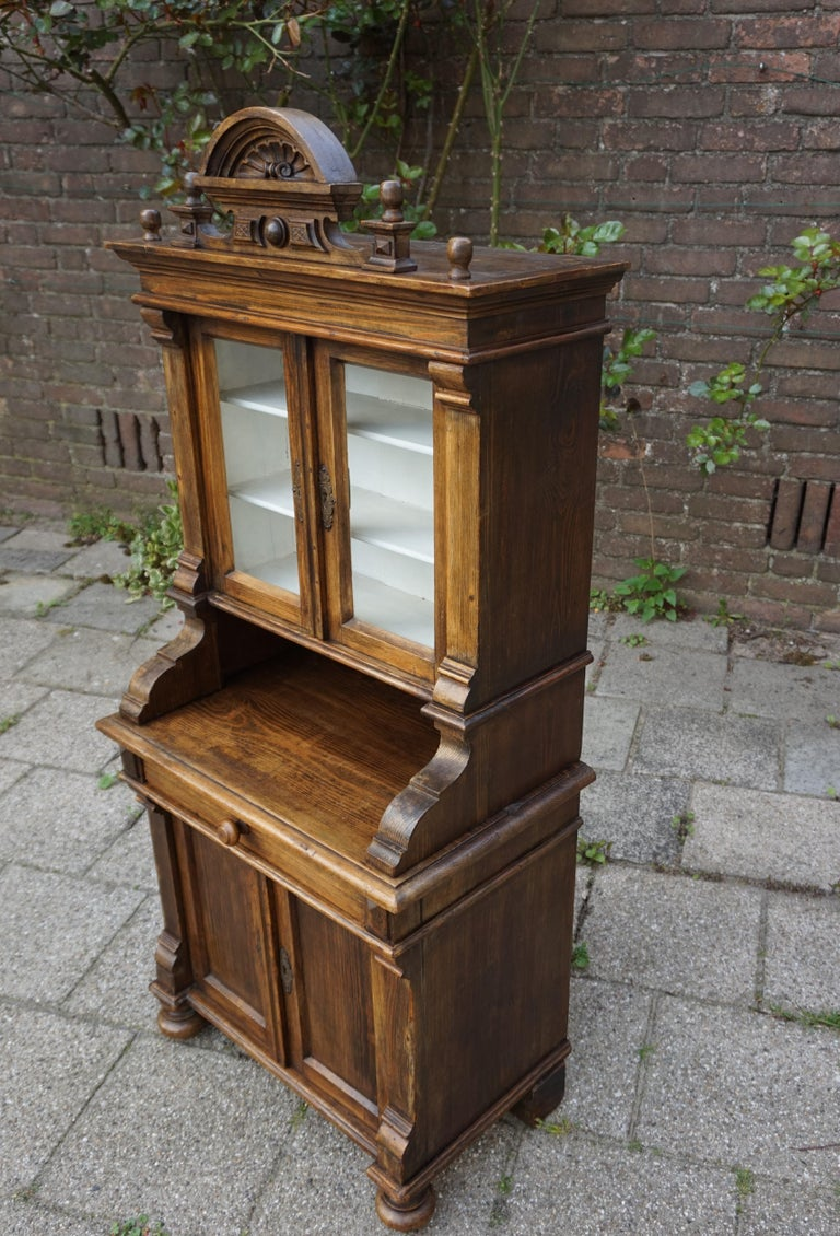 Brass Handmade Antique Miniature Country House Sideboard / Kitchen Cabinet Late 1800s For Sale
