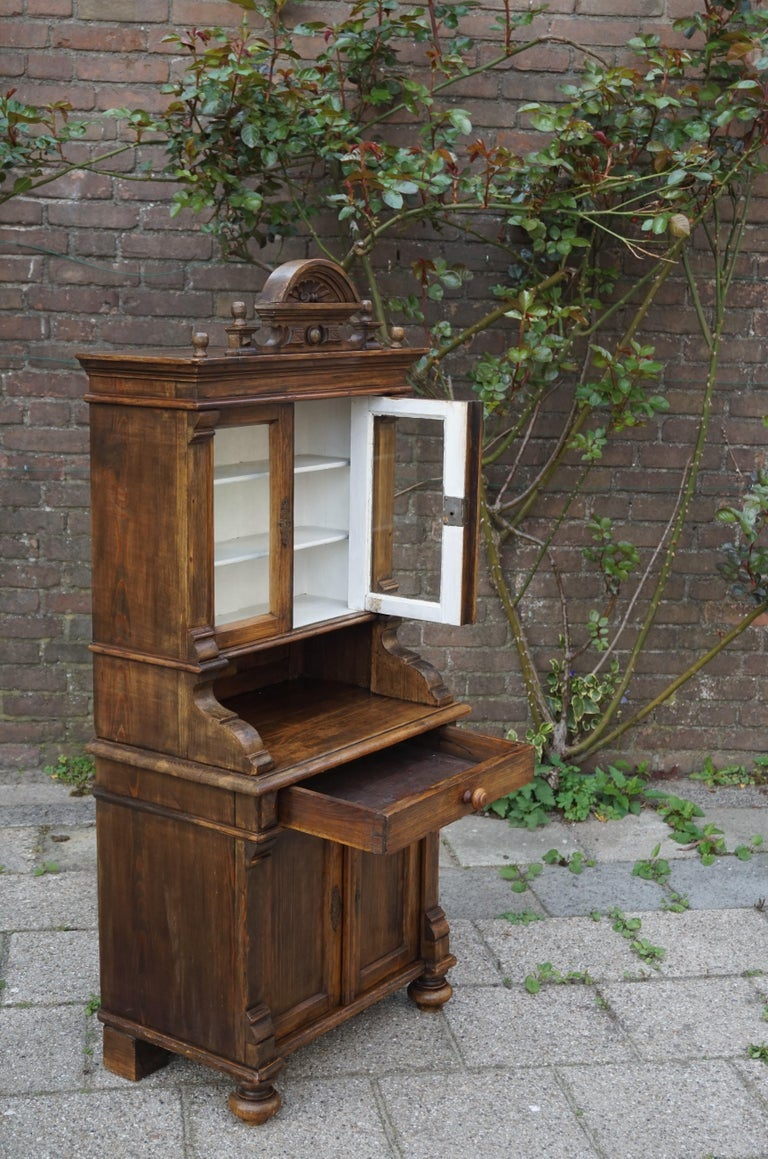 Handmade Antique Miniature Country House Sideboard / Kitchen Cabinet Late 1800s For Sale 2