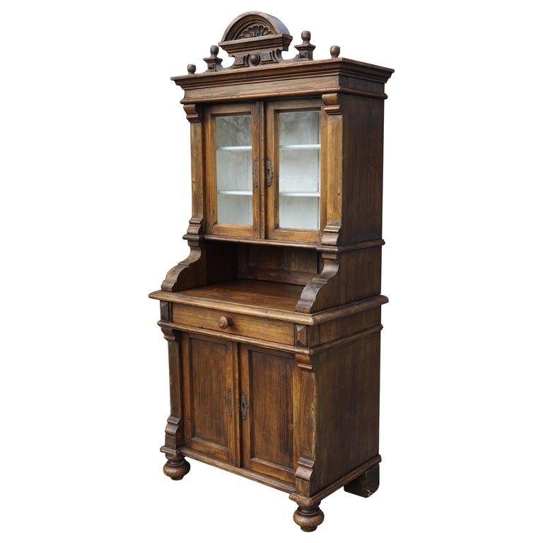 Handmade Antique Miniature Country House Sideboard / Kitchen Cabinet Late 1800s For Sale