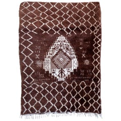 Handmade Antique Moroccan Berber Rug, 1930s, 1P06
