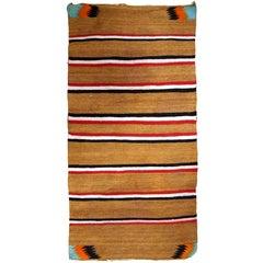 Handmade Antique Native Navajo Baby Blanket, 1900s