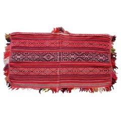 Handmade Antique Peruvian Poncho Kilim, 1900s, 1P63