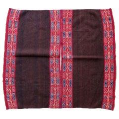 Handmade Antique Peruvian Poncho Kilim, 1900s, 1P64