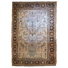 Handmade Antique Prayer Indian Indo-Moktasham Rug, 1880s, 1B788