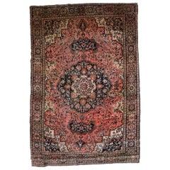 Handmade Antique Sarouk Farahan Style Rug, 1880s, 1B779