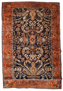 Handmade Antique Sarouk Style Rug, 1920s, 1B782