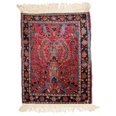 Handmade Antique Sarouk Style Rug, 1920s, 1B816